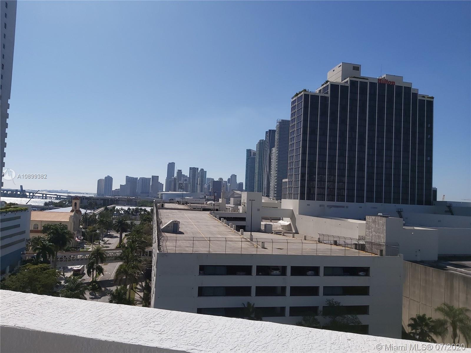 Studio at Opera Tower facing South with partial views of Biscayne Bay, and Downtown Miami. Great loc