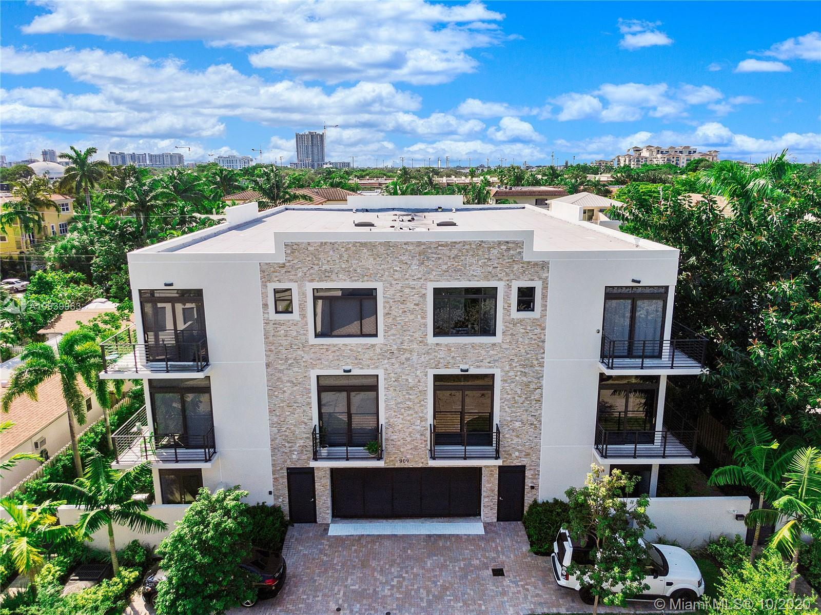 New construction in the heart of Fort Lauderdale's Victoria Park offers luxury in this sleek, contem