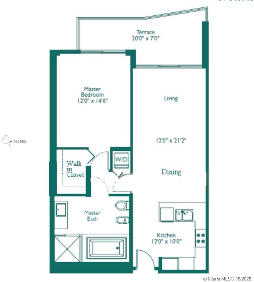 Boutique building in brickell finance one bedroom, wood flooring, washer and dryer, sub-zero, walkin