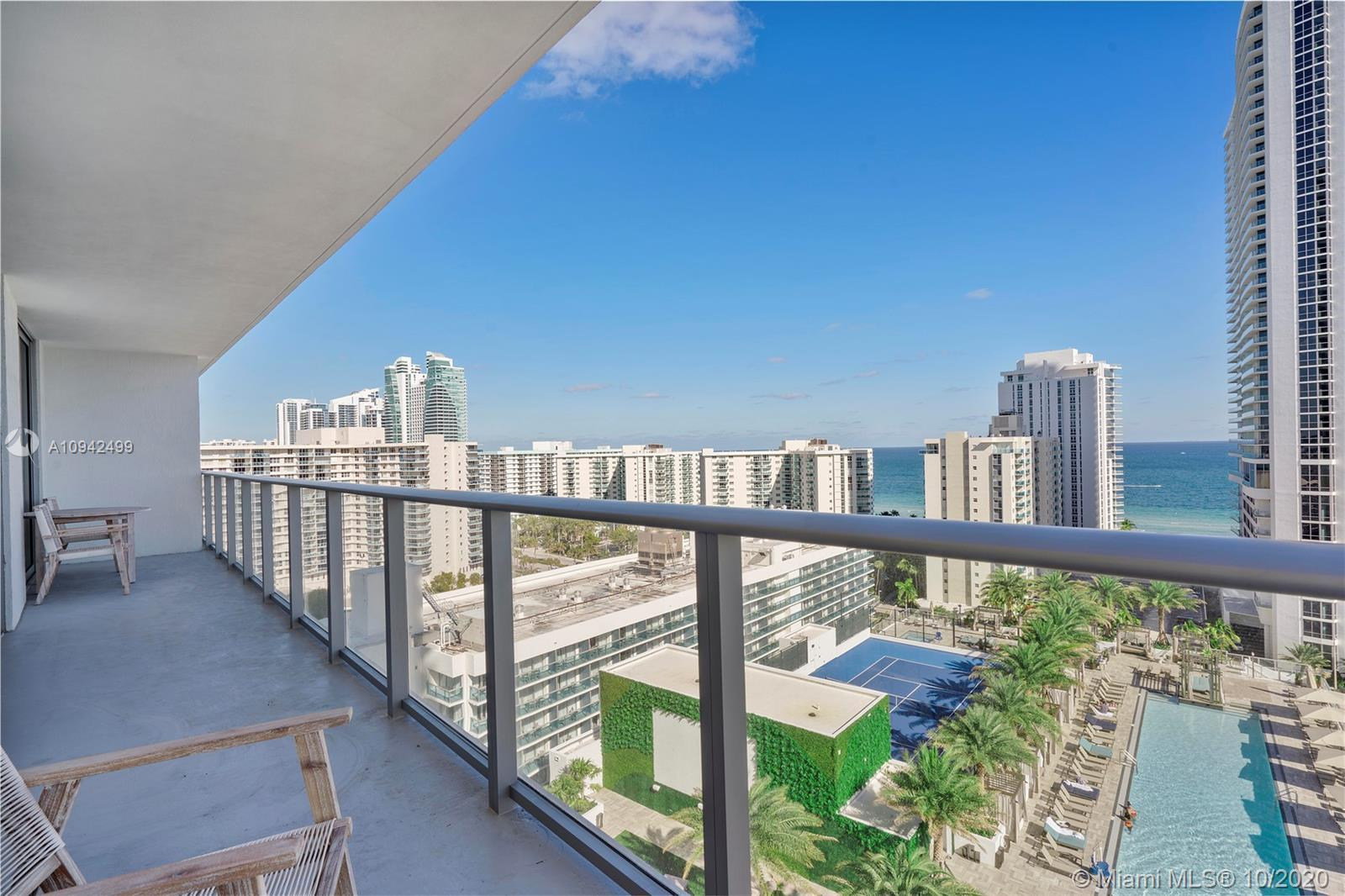 Best view from this brand new condo/hotel,  furnished with ocean views and pool. 2  bedrooms, with E