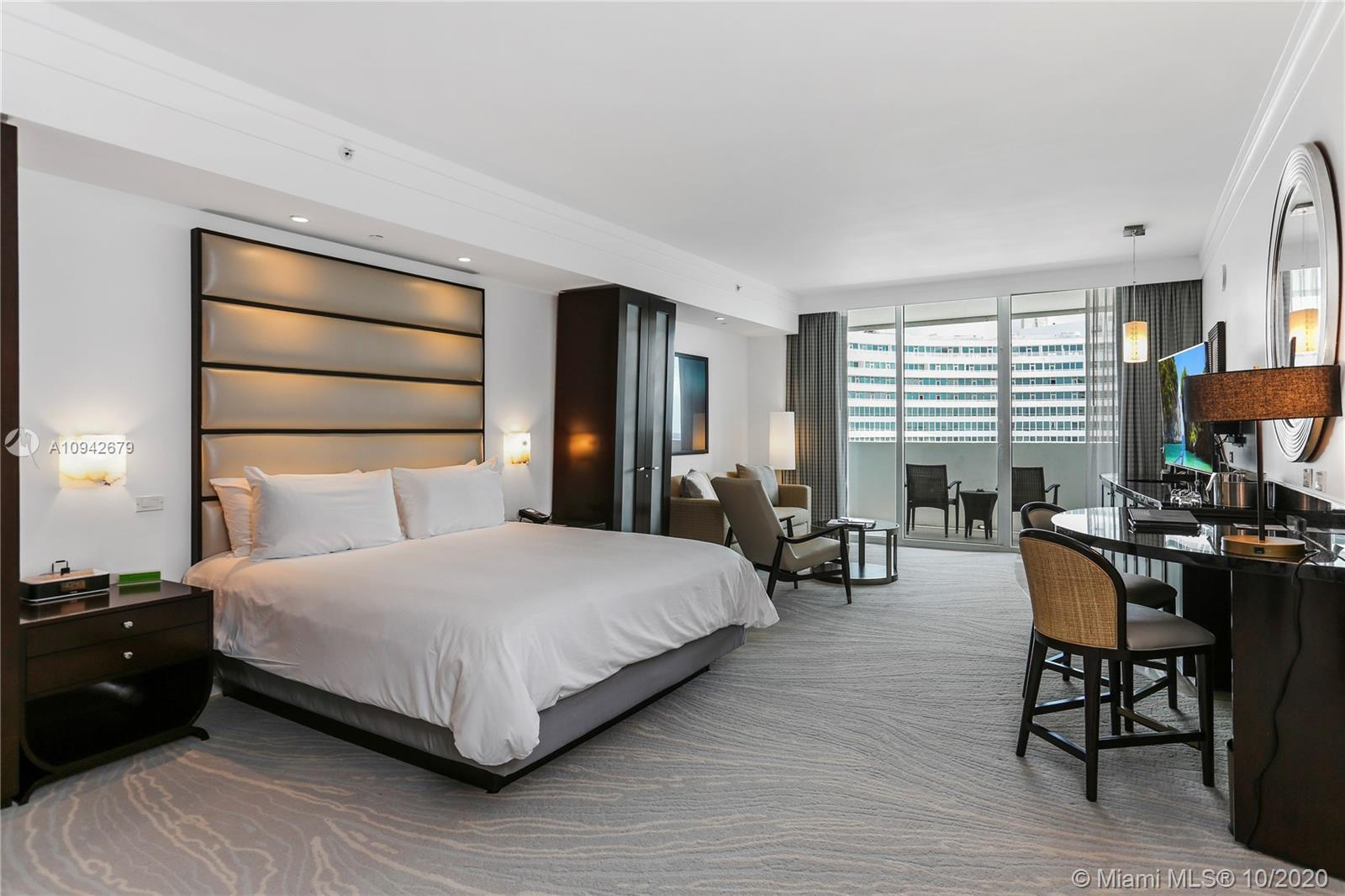 Beautiful just refurbished Jr Suite with 1 bath w/ocean & pool views at The Fontainebleau III. Enjoy