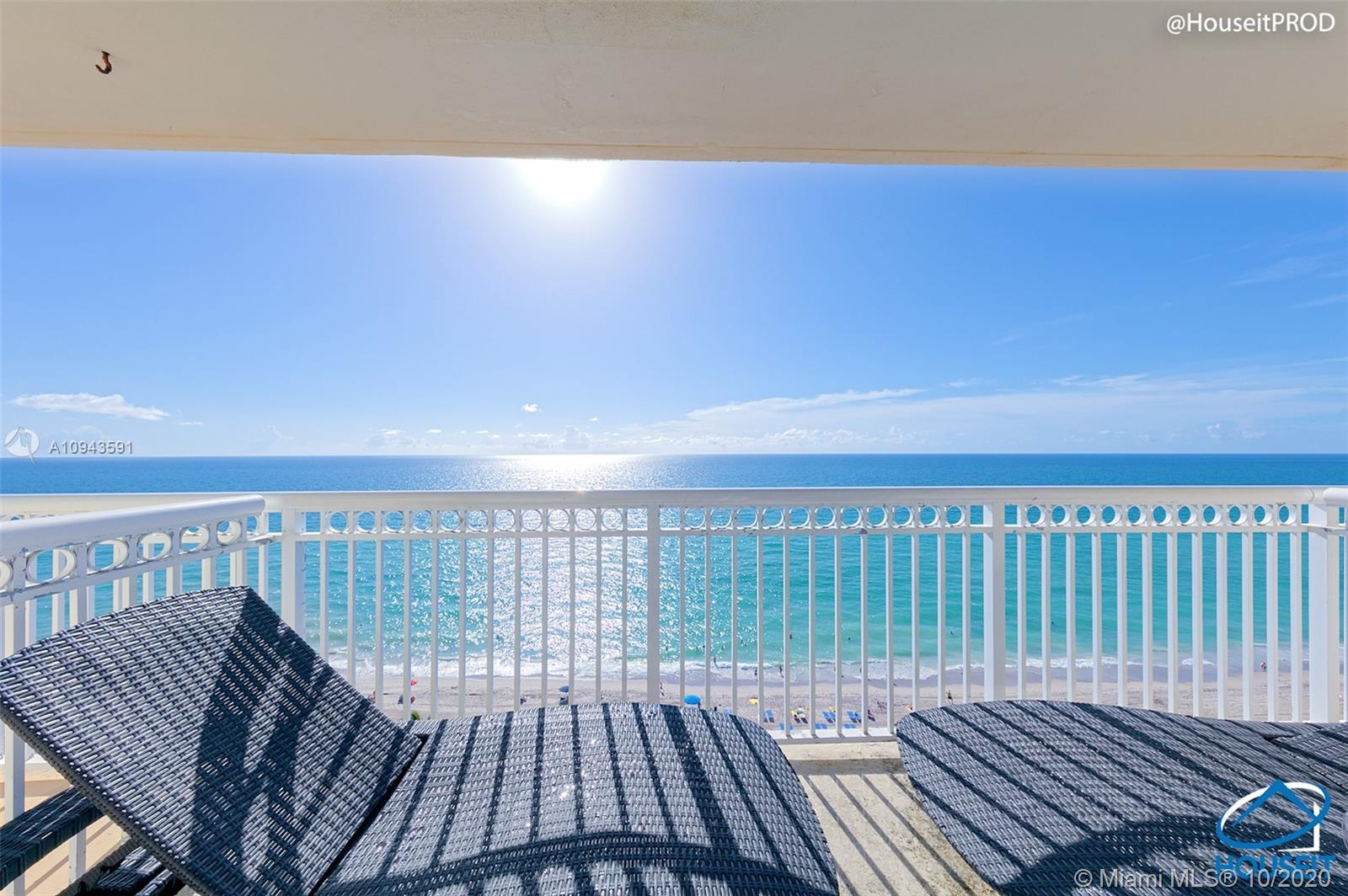 PENTHOUSE LEVEL DIRECT OCEAN VIEW WITH ALL THE WORKS! MODERN VINYL FLOORING, NEW FURNITURE, GRANITE
