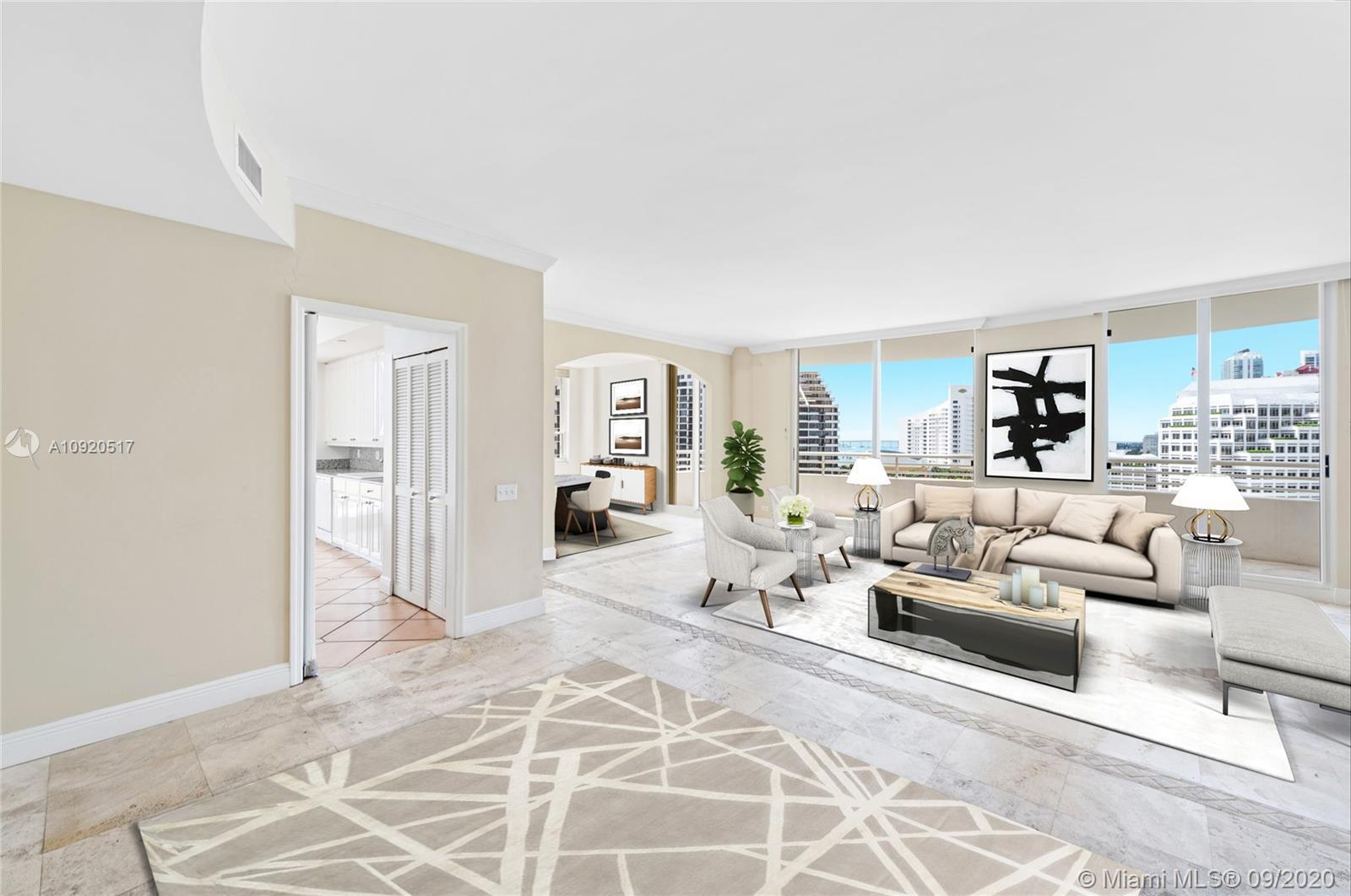 Beautiful 3 Bedroom, 3 Bathroom residence at the prestigious One Tequesta Point Condo located in the