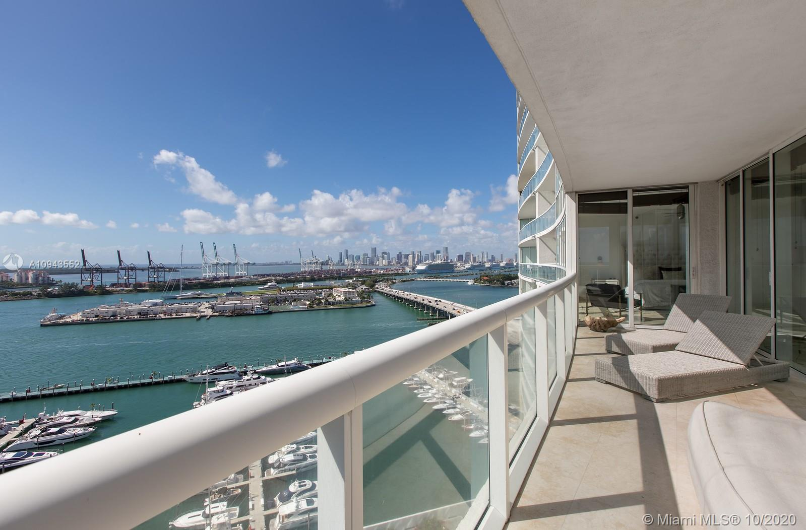 High Floor highly sought after '07' line corner unit with water views from every room. Impeccably ma