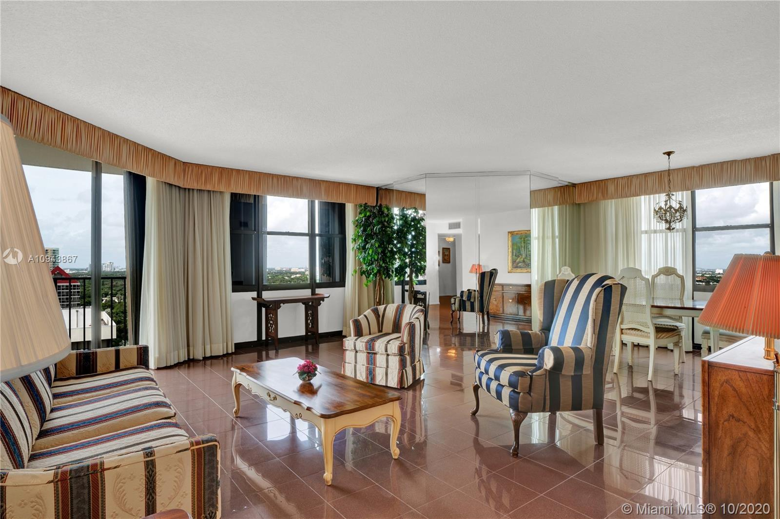 SPECTACULAR CORNER DIRECT OCEAN AND CITY VIEW SPACIOUS 2 BEDROOM, 2 BATH, OVER-SIZED BALCONY. MARBLE