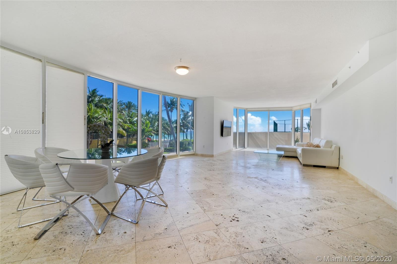 Amazing opportunity to own a private and secluded corner 3/3 unit at the Pinnacle Oceanfront buildin