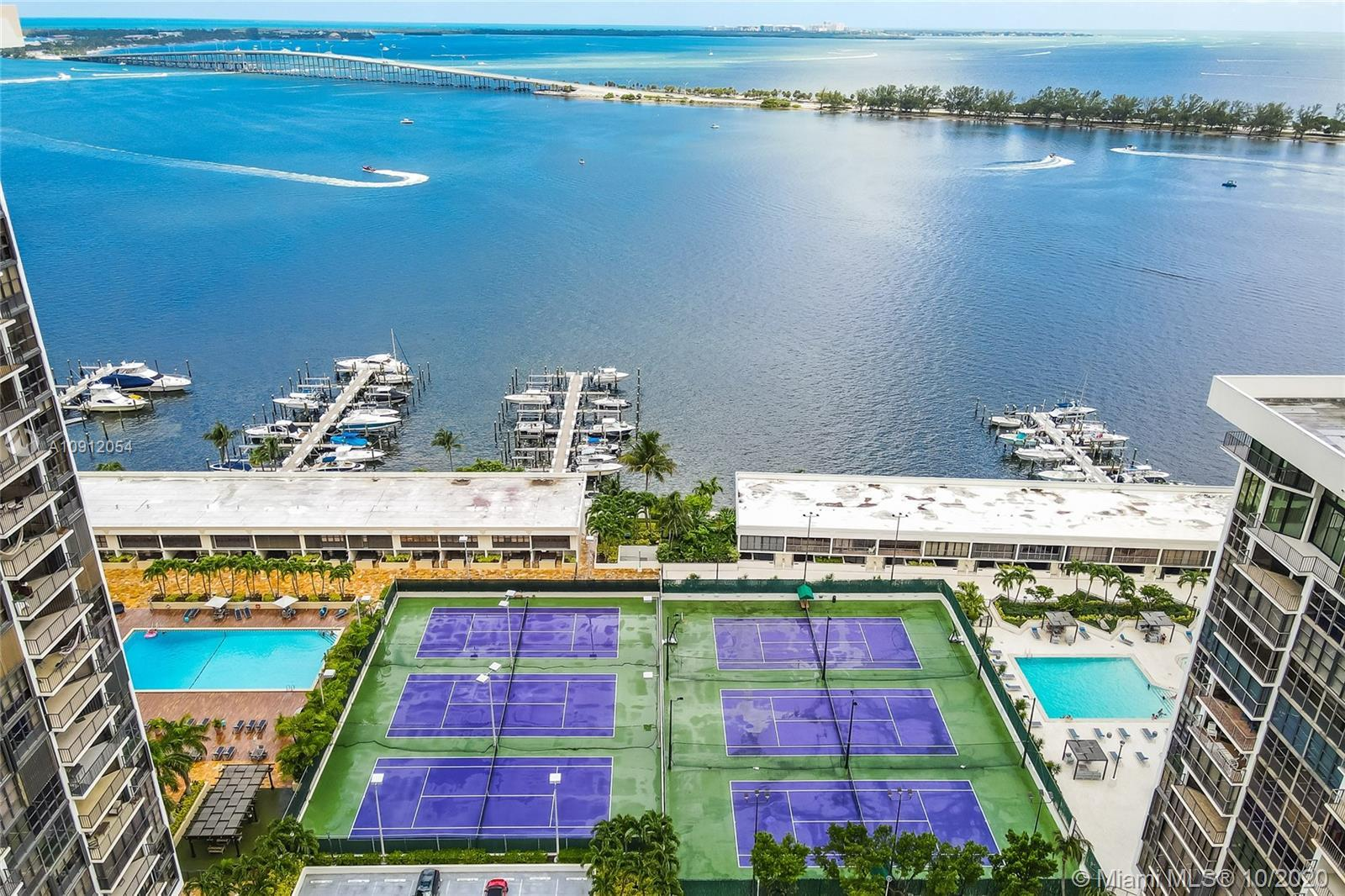 Bay views! Best location on Brickell. Remodeled kitchen and bathrooms. Wood cabinetry, granite count