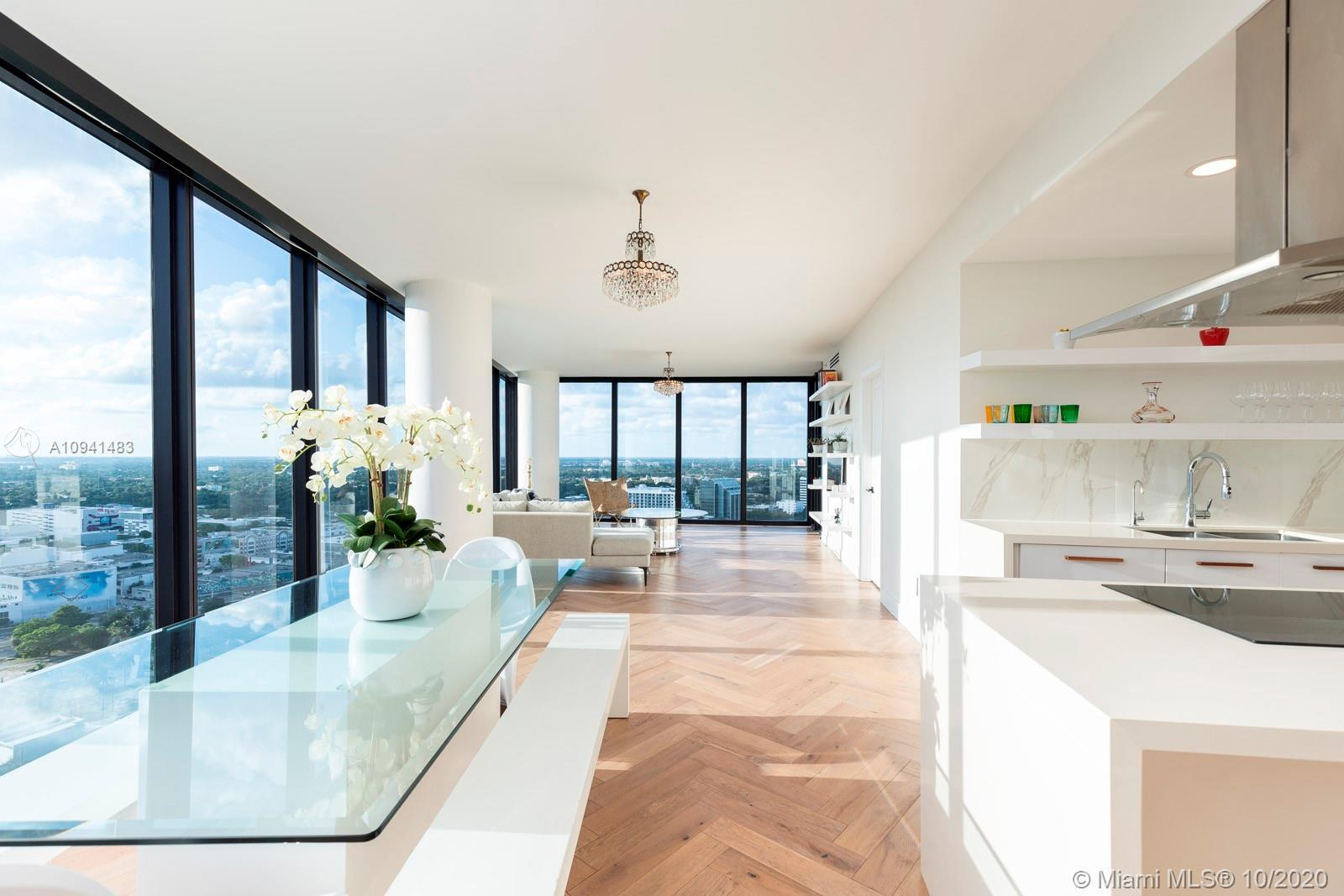 Lavish corner residence in the sky sets the new standard of luxury in Edgewater. Completely renovate