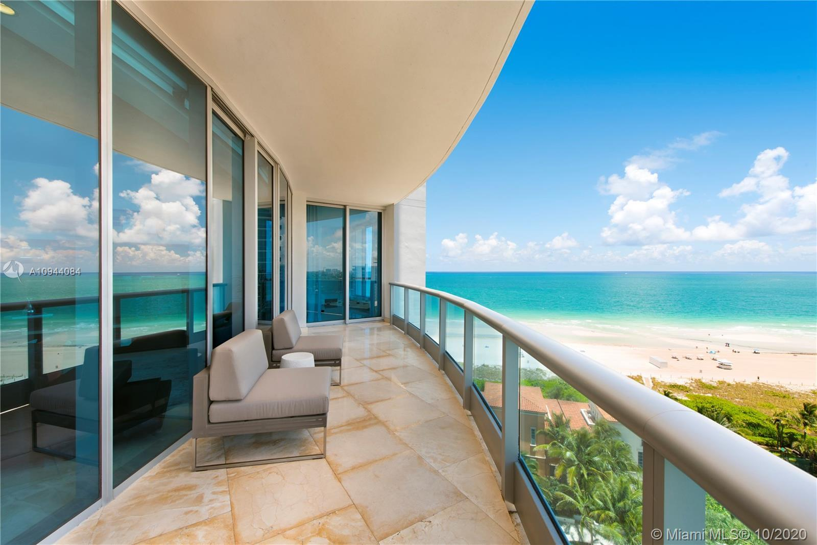 "SE corner 3/3/1 residence with 10"" ceiling, large sunny terrace, AMAZING DIRECT OCEAN VIEWS, and cit"