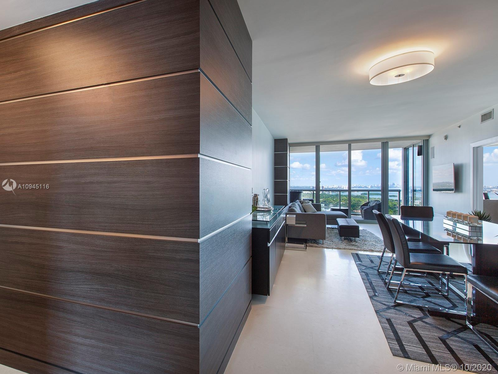 Amazing high-floor 2 bed, 2.5 bath residence at Blue condo in Edgewater, Miami. Enjoy bay and ocean