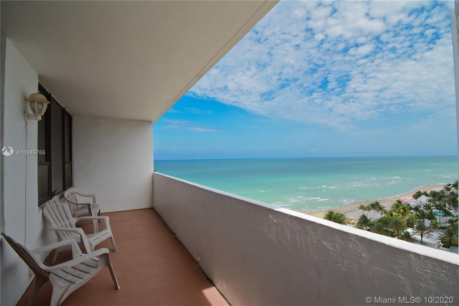 OCEANFRONT BLDG! FURNISHED 14TH FL 2 BEDROOM/2 BATH WITH FABULOUS OCEANVIEWS, OPEN KITCHEN, LARGE BA