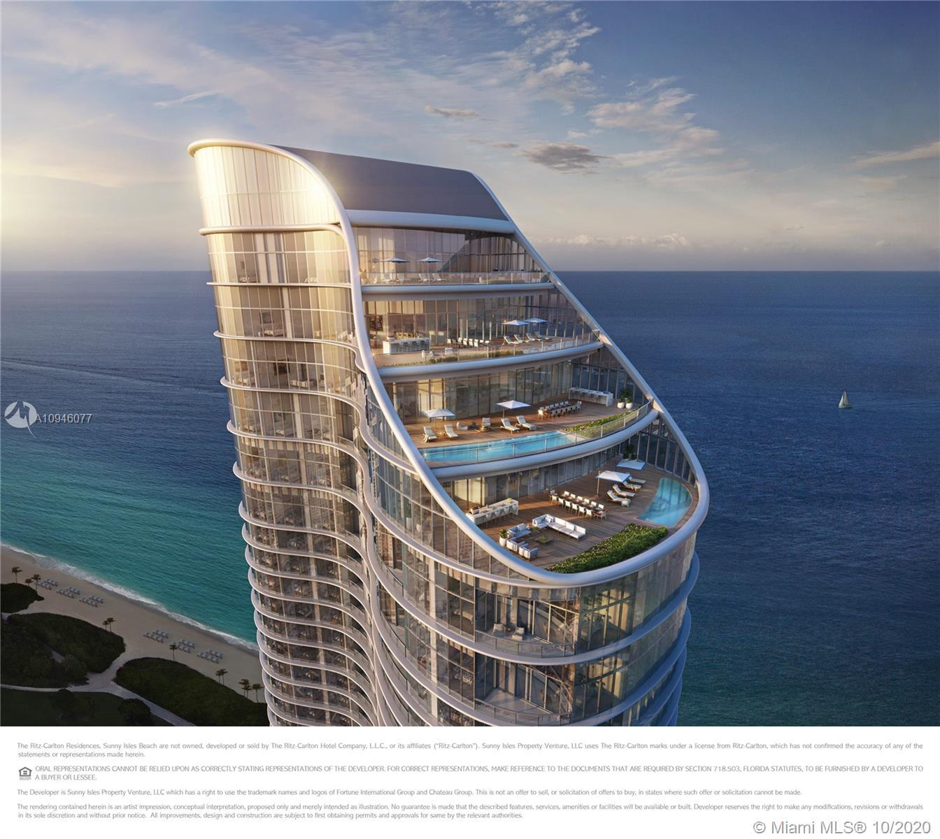 Spectacular 2 Bed plus Den & 2.5 Bathroom residence in the Ritz Carlton Residences with direct ocean