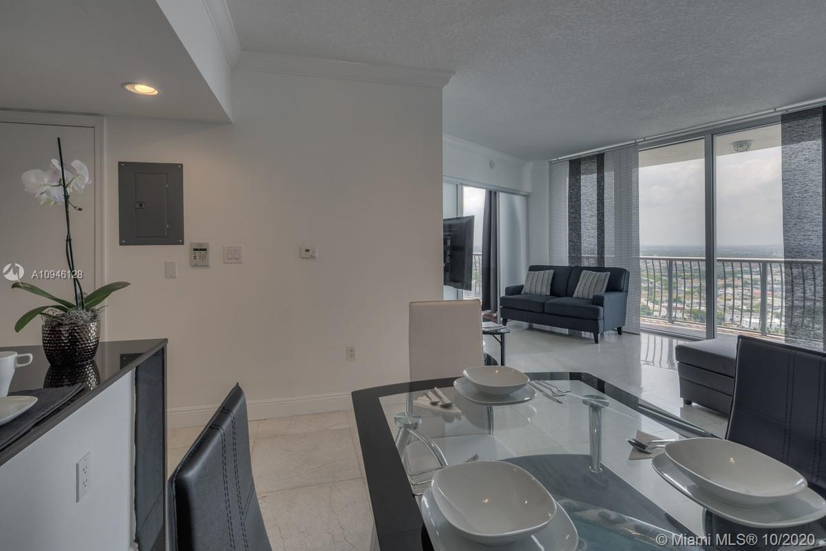 Stunning 2 bedroom 2 bathroom furnished condominium. Beautiful corner unit  on the 43rd floor with s