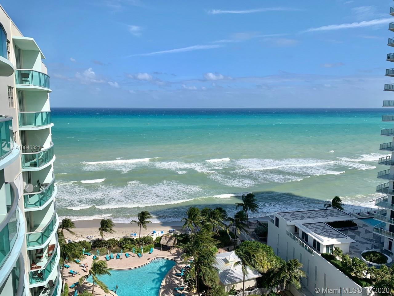 OPPORTUNITY KNOCKS ON THE BEACH! This FURNISHED jewel in the sky is the only 1 bedroom model w/ the