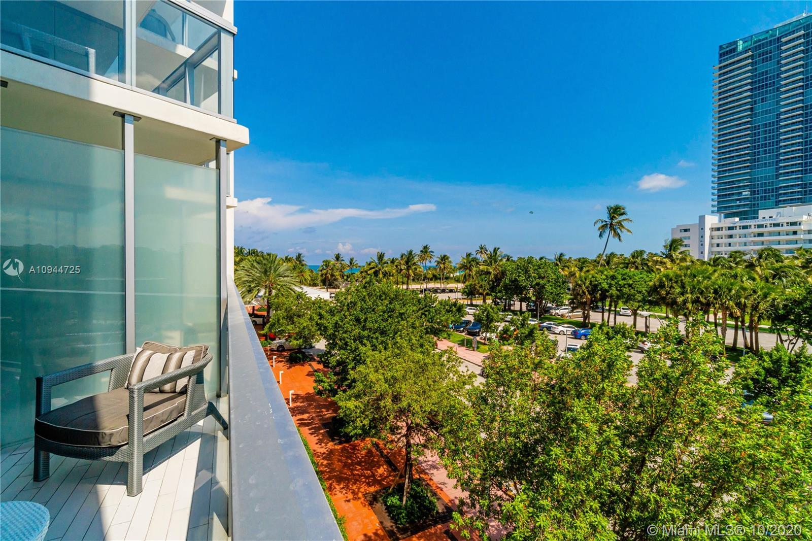 Amazing low floor studio for seasonal owners or investors at The W Hotel in the heart of South Beach