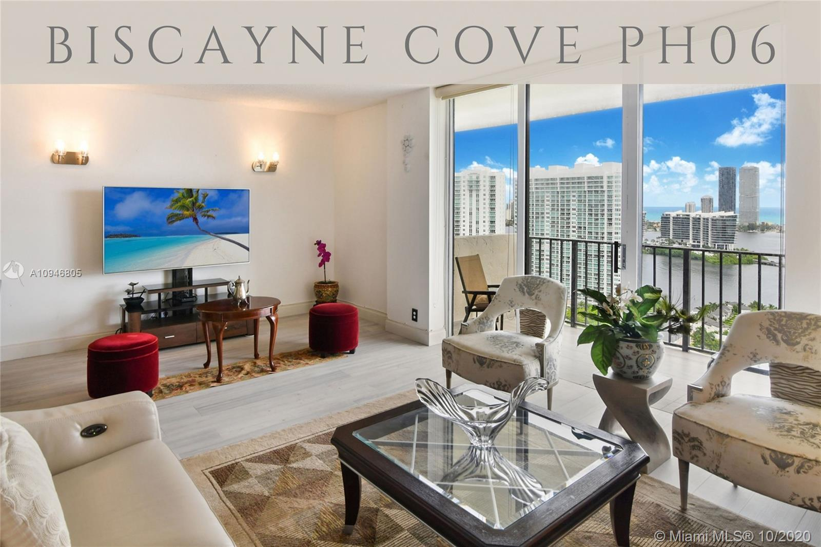 RARE 2 Bedroom Penthouse at Biscayne Cove! Spectacular top-floor water views, from one of the larges