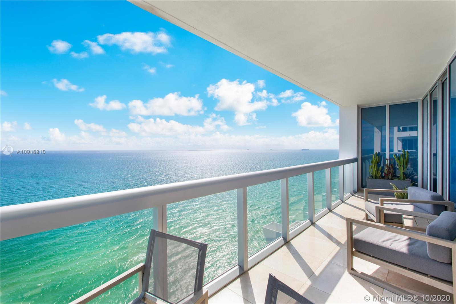 Luxurious + Spacious + Bright Direct Ocean and City Views with  3BD - 2.5 BA - High Floor. Flow-thro