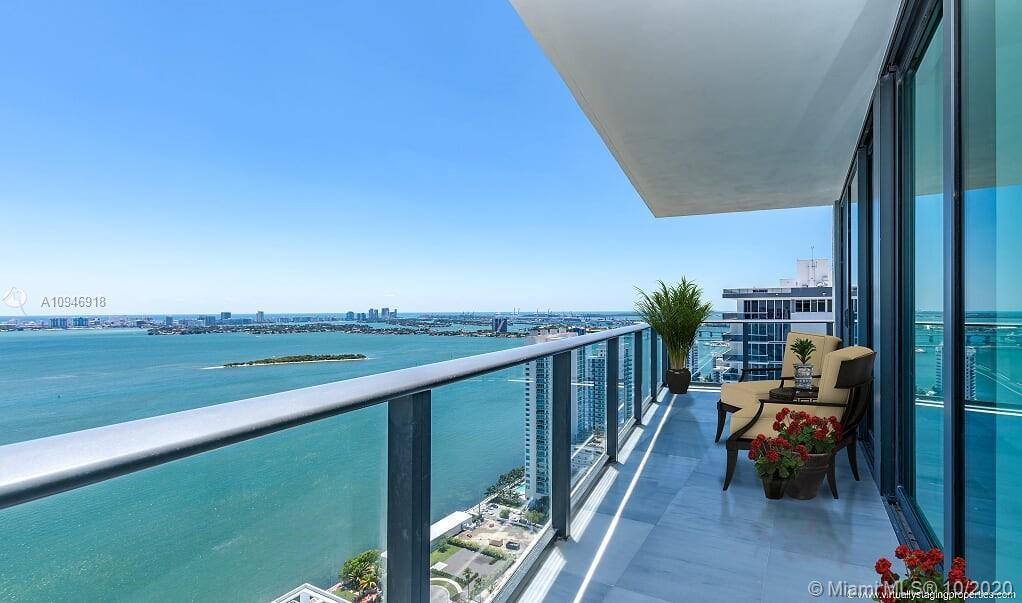 Stunning 3 bed/2.5 bath corner unit at brand new Icon Bay. Direct Bay views and furnished beautifull