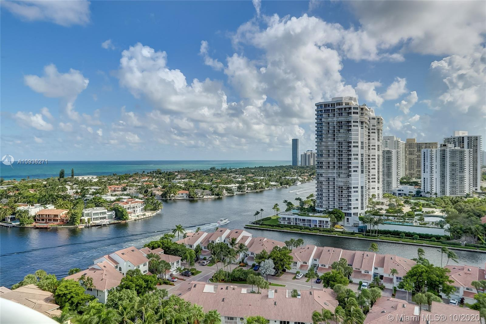 Spectacular unobstructed ocean, intracoastal and marina views in the coveted Atlantic III at the Poi