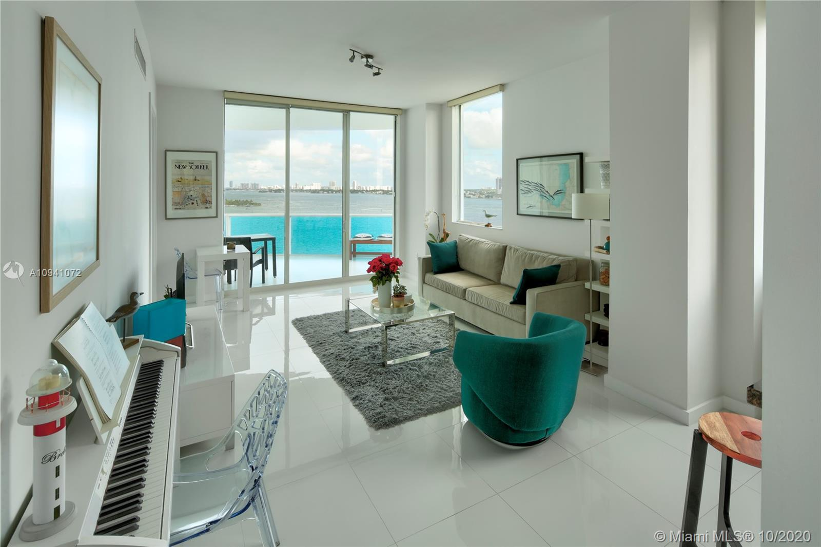 Remodeled South corner unit in trendy Miami's Edgewater neighborhood and acclaimed New Wave boutique