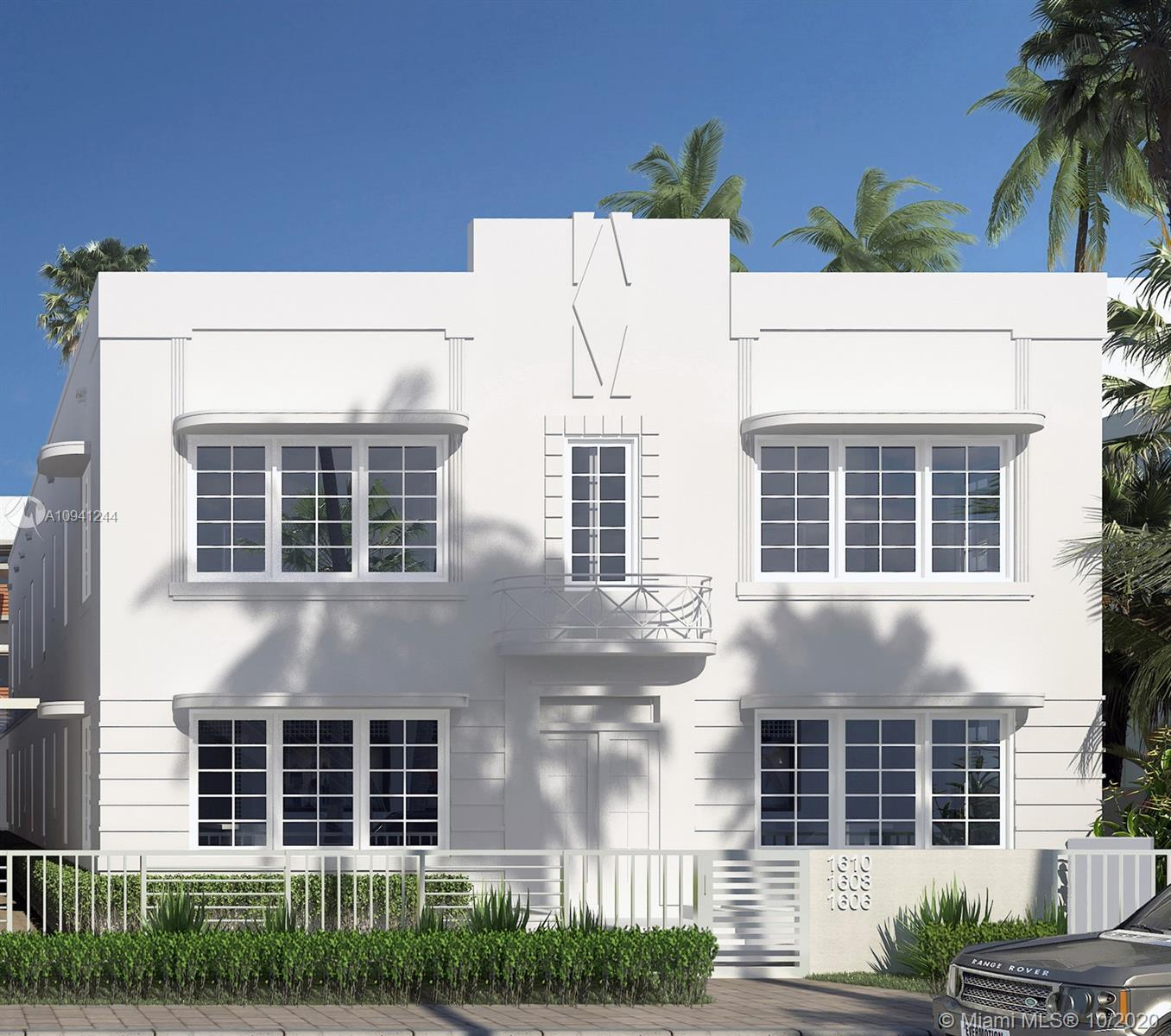 Unique new 2 story contemporary Townhome in completely renovated Art Deco building located in the he