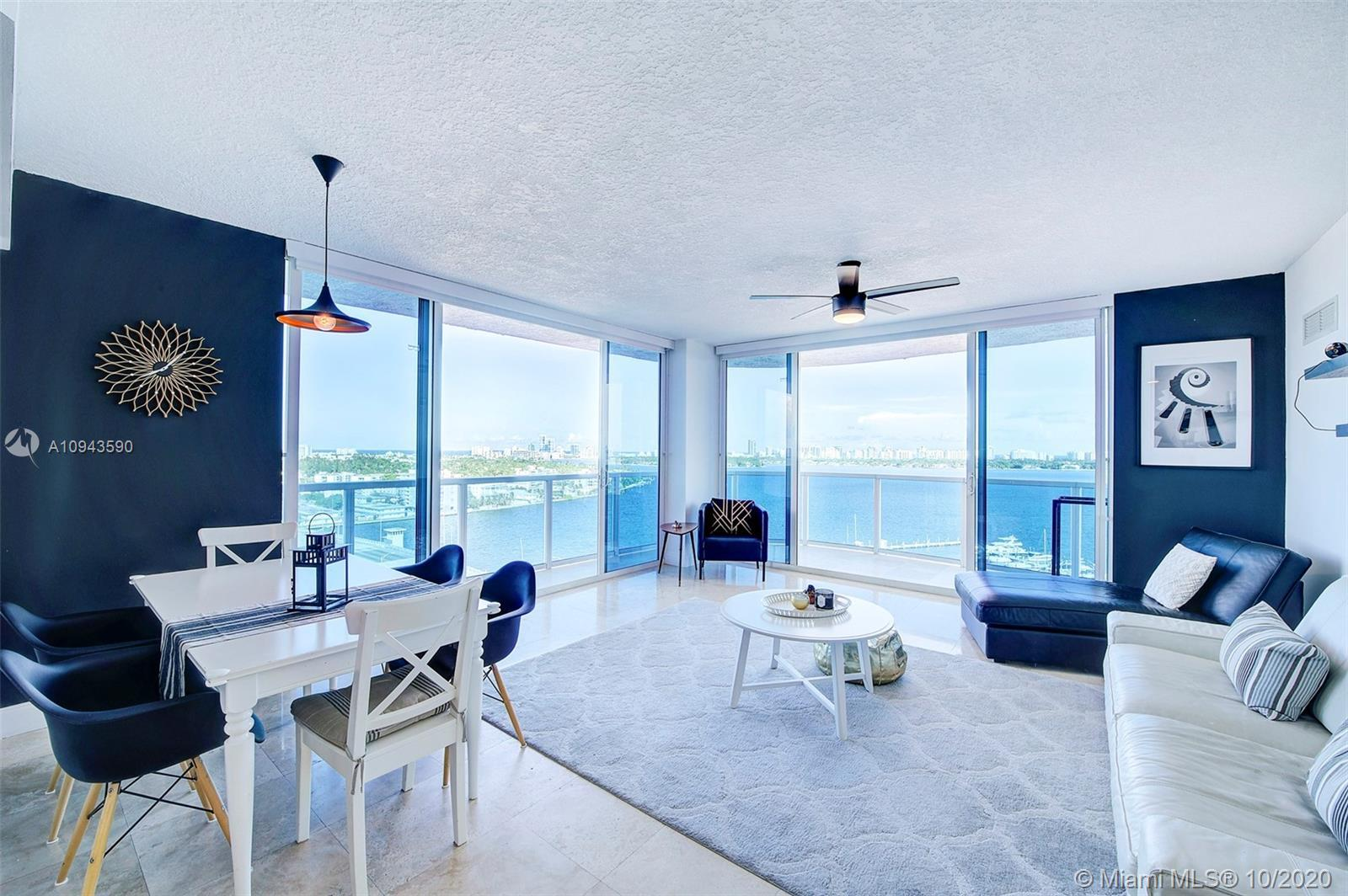 One of the best views in Miami! 180° panorama of the Bay, Miami Beach and Downtown skyline. Watch th