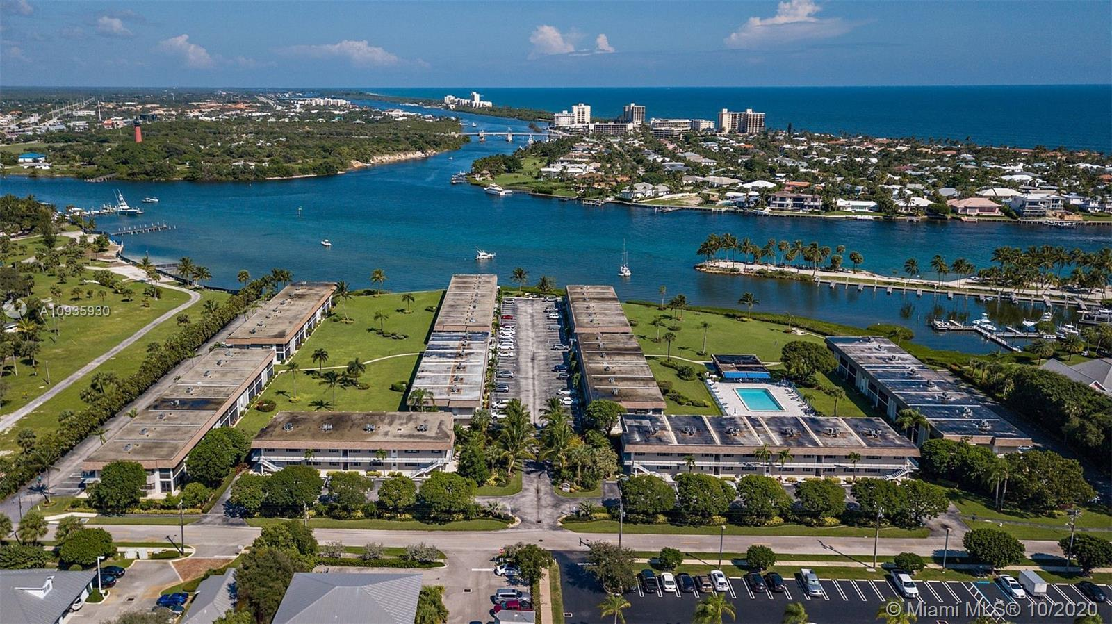 Spectacular location on the Jupiter Inlet.  This first floor condo is turnkey and ready for new owne