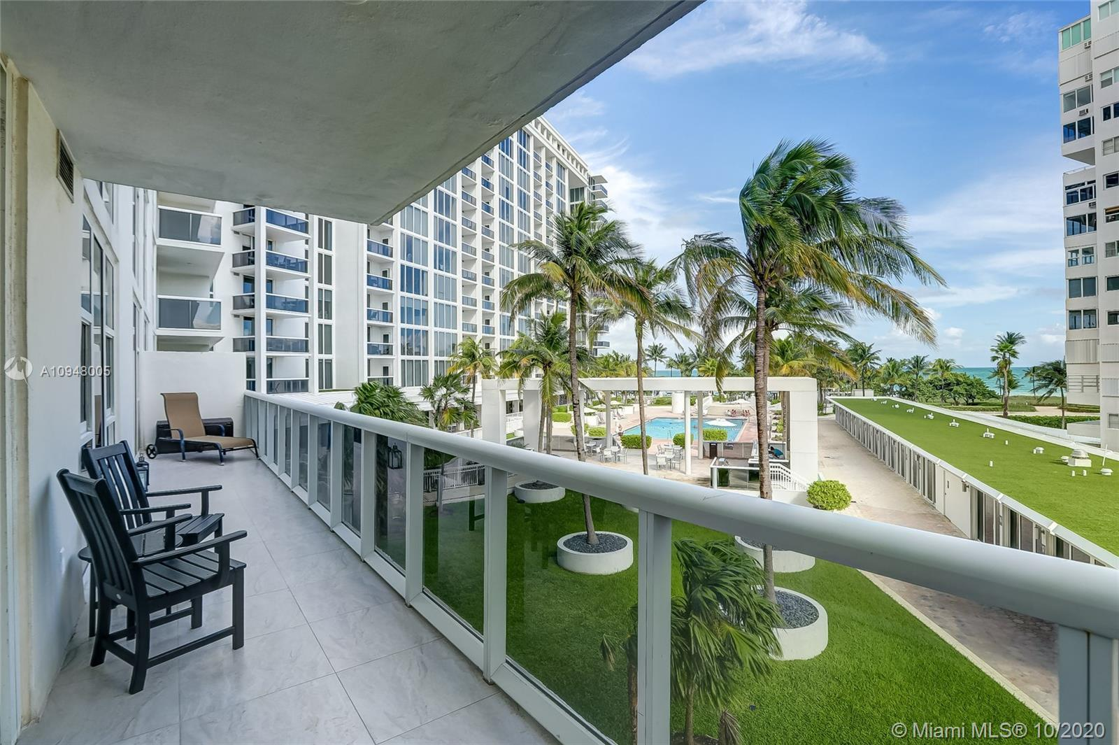 SPECTACULAR DIRECT OCEAN, BEACH, AND POOL VIEW WITH OVER-SIZED BALCONY. THIS UNIT HAS THE LARGEST BA
