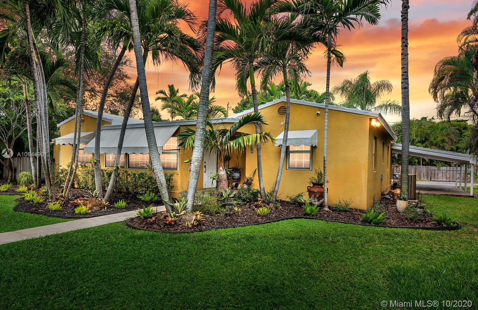 MIAMI SHORES GEM! This 3 bed/2 bath, plus office & 1/1 in-law suite, used as gym, is perfect place t