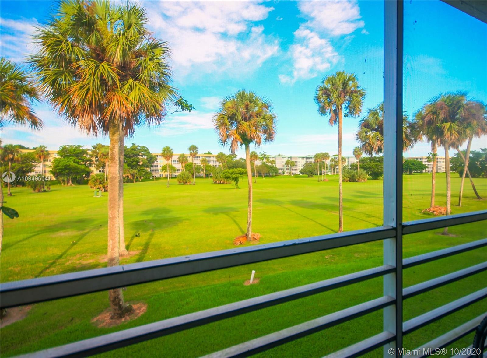 Exclusive Golf course unit at Palm Aire , lange apartment seating over nice golf course .. just get