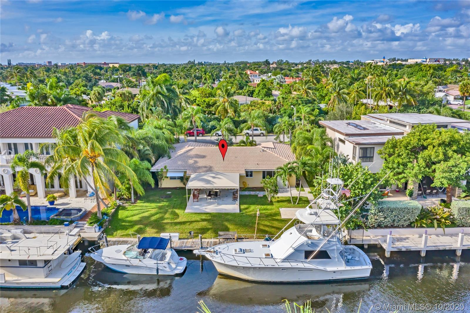 Looking for a waterfront home in Pompano Beach? Look no further. Desirable location close to the Hil