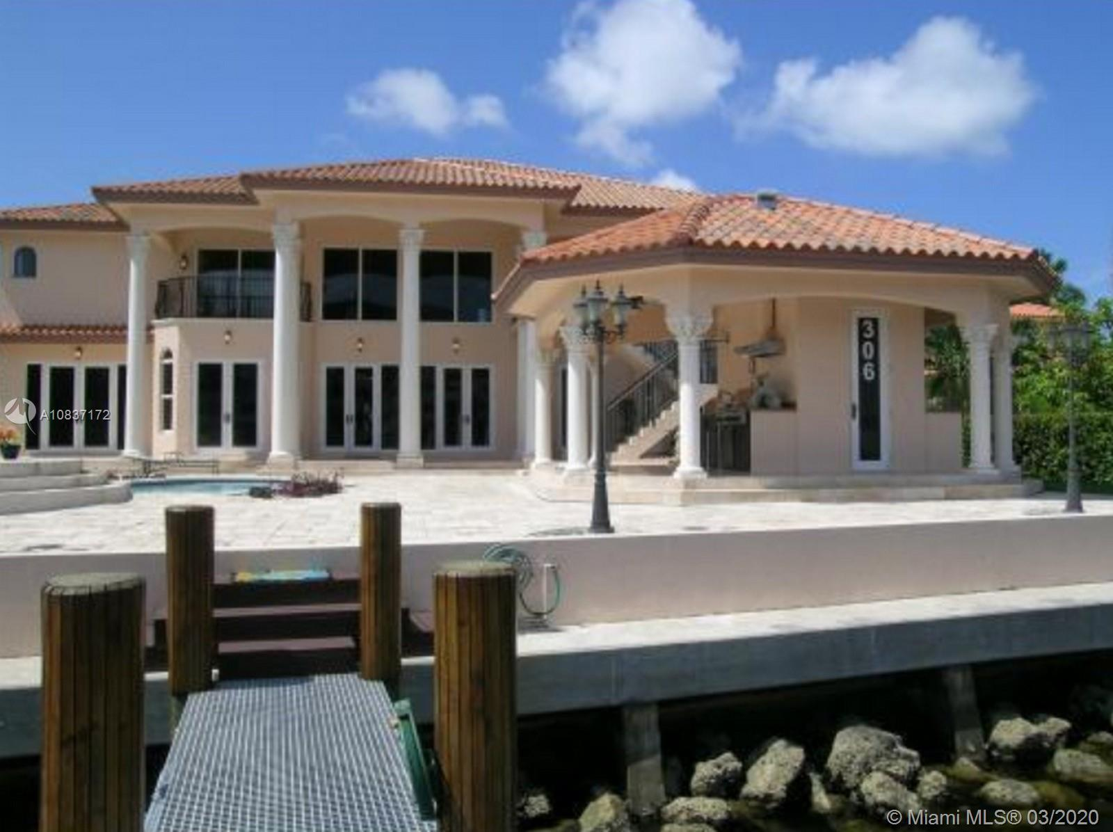 Unique Home in fabulous location on Atlantic Isle (a 54 home island in Sunny Isles Beach across the