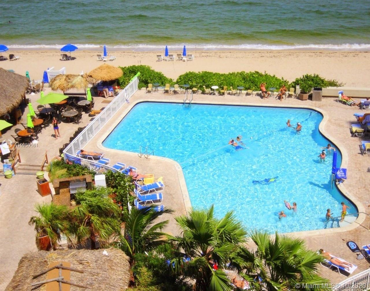 FULLY FURNISHED, 1BED/1BATH CONDO IN BULDING ON THE BEACH OCEAN FRONT HEATED POOL NEXT TO TIKIBAR, C