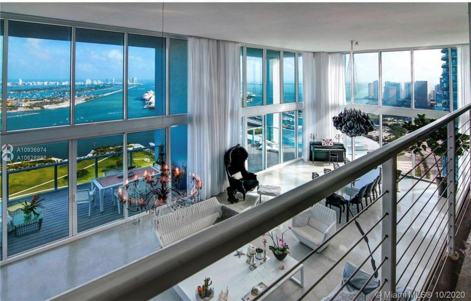 One of a kind 3-level Penthouse. Featuring 24- ft ceilings, private rooftop, plunge pool + 360° pano