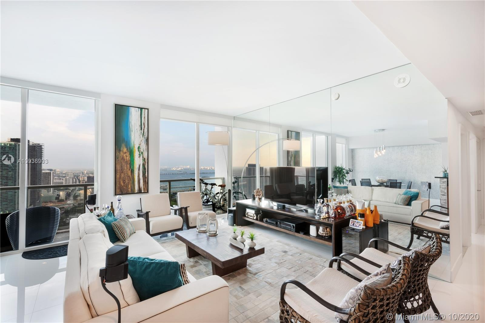 Stunning water view, LUXURY FURNISHED, Gorgeous BAY VIEWS from this 46th floor Luxury Condo at Vizca
