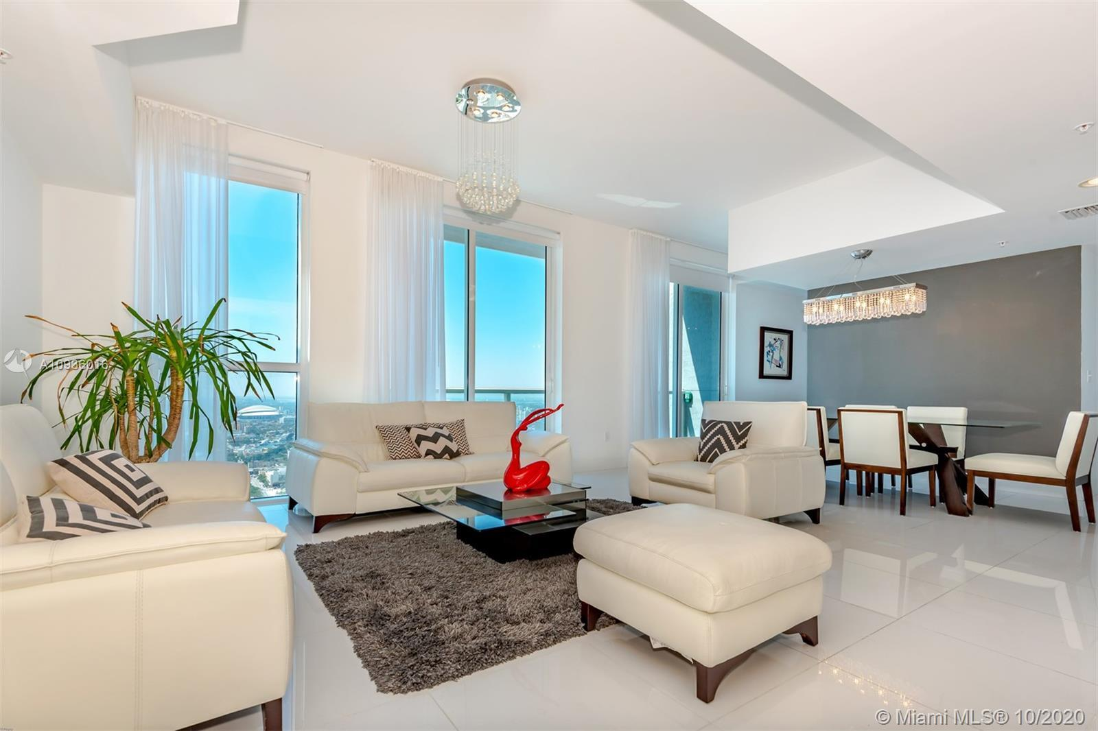Unique opportunity to own 3 Story Penthouse in heart of downtown Miami. Building amenities include 2