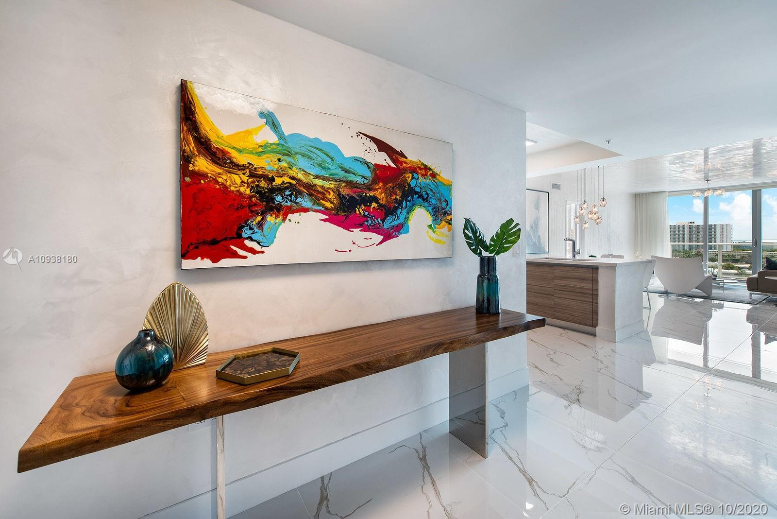 Stunning Turn Key Unit at Parque Towers with peaceful and impactful views of the bay and Oleta Natio