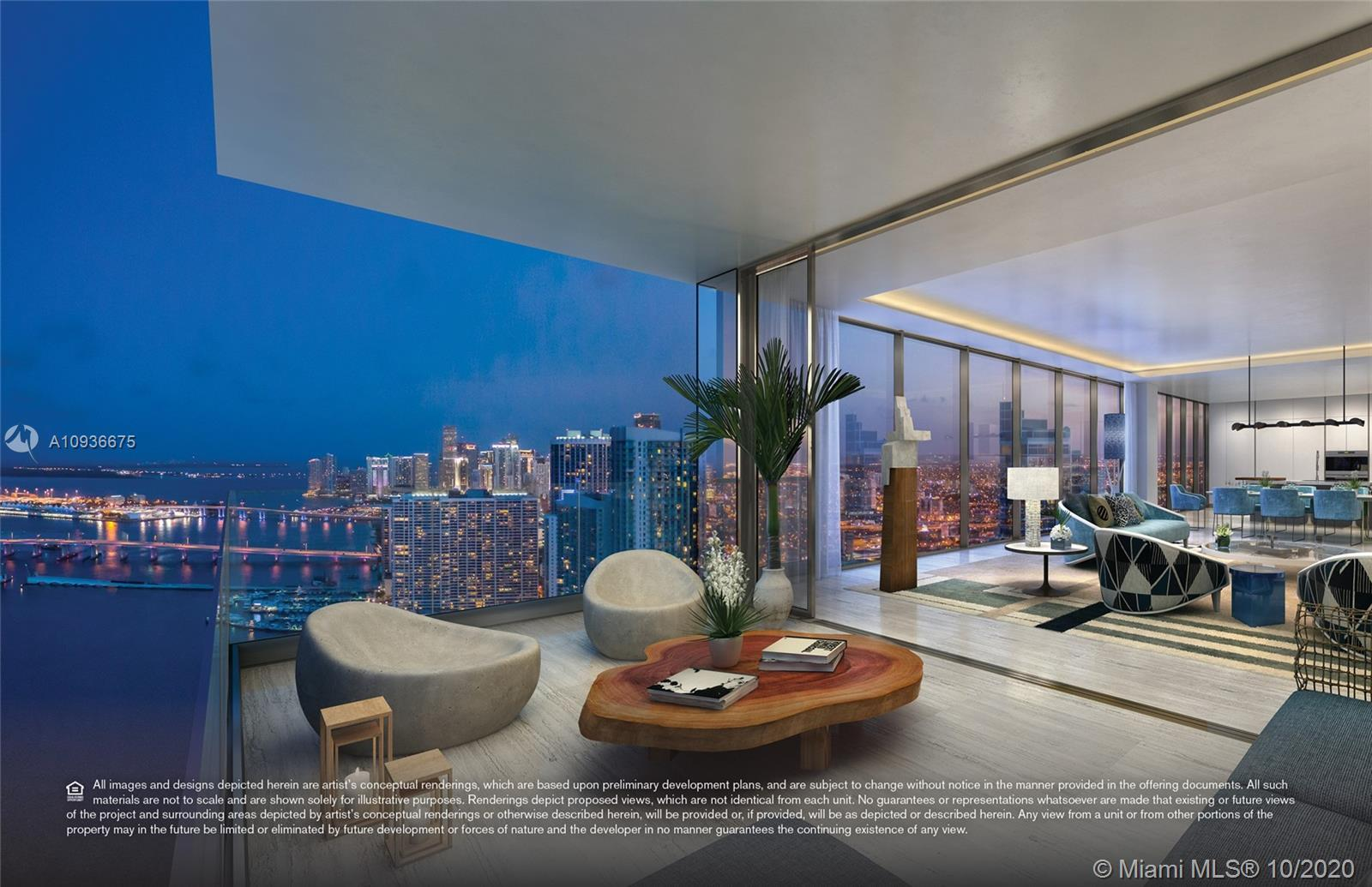 Stunning 4B + study + den, 4.5b unit at Elysee, the first luxury boutique building in Edgewater. Liv