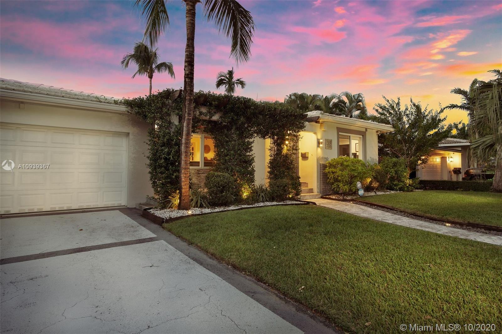 Beautifully updated Miami Shores home. Enjoy front to back sightlines from your entry foyer looking