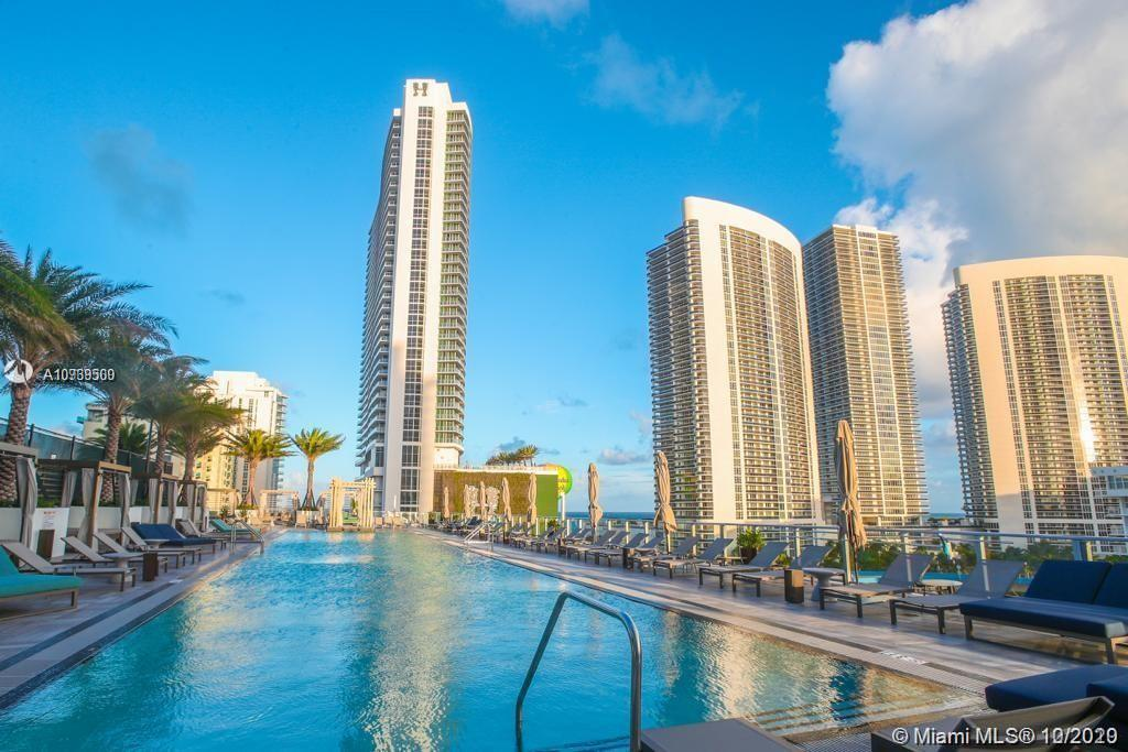Brand new luxury condo hotel, totally furnished with partial ocean views and pool. It has 2 split be