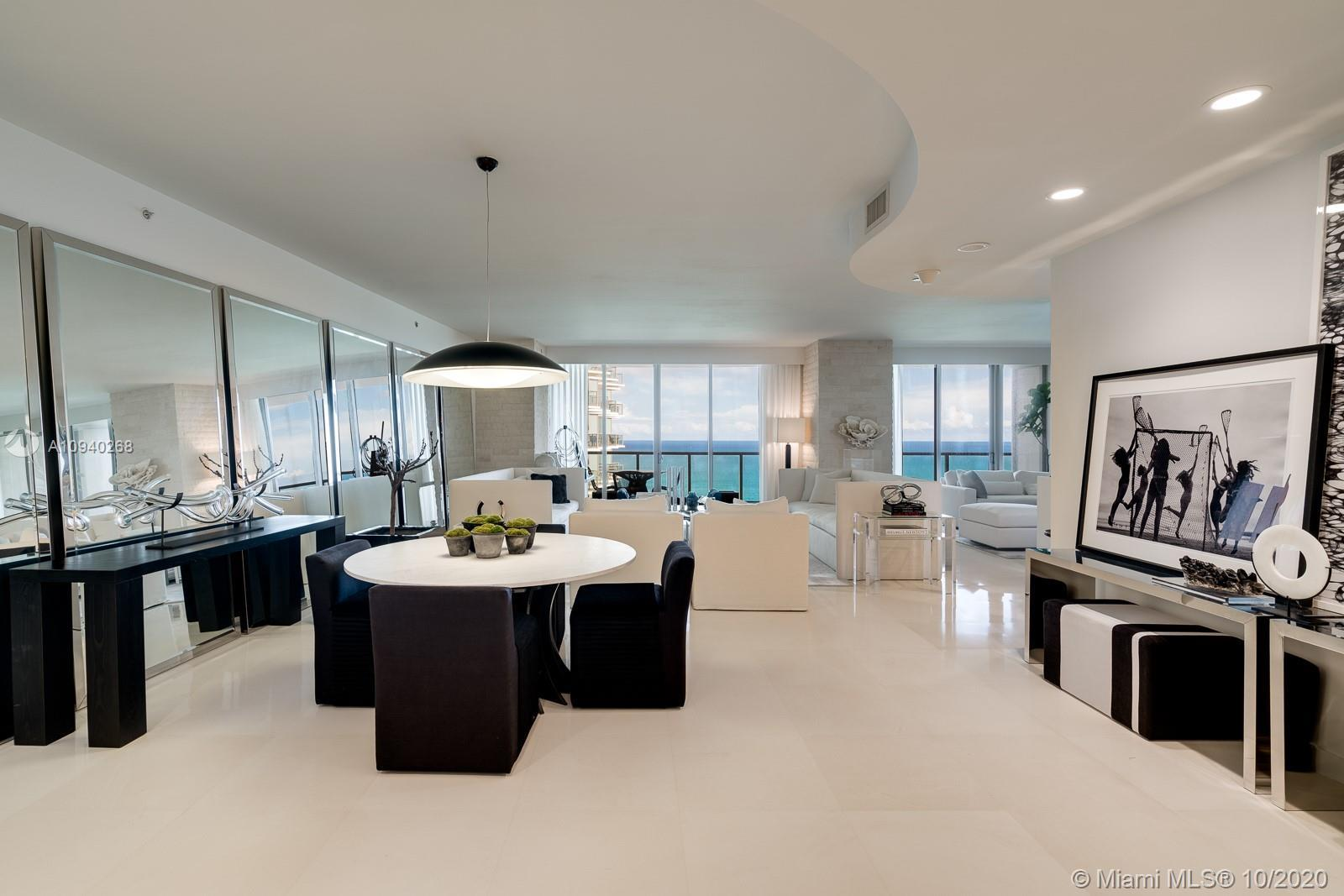 Immaculate Residence available at St Regis Bal Harbour. Enjoy Direct Ocean and Panoramic City/Intrac
