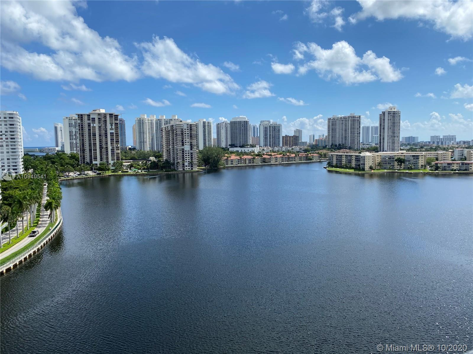 WATER! WATER! ABSOLUTELY LOVELY CORNER UNIT AT COMMODORE PLAZA IN AVENTURA WITH BREATHTAKING WATER V