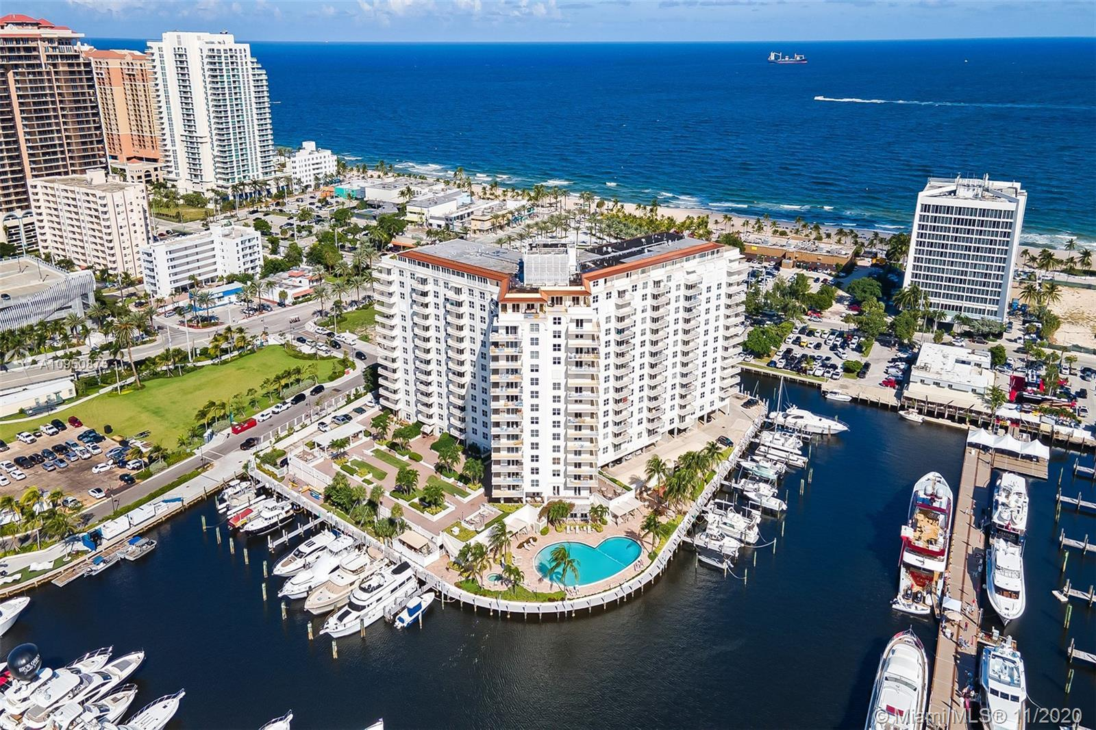 LIVE THE WATERFRONT LIFESTYLE AT THE OCEANFRONT IN DOWNTOWN FORT LAUDERDALE*BEAUTIFUL BALCONY WITH W
