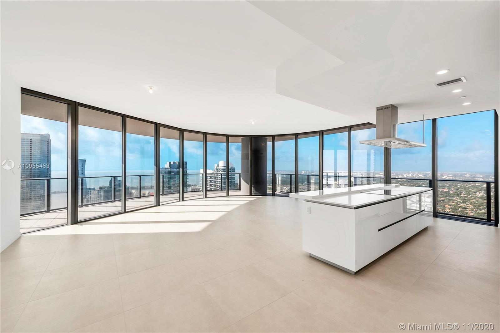 Worldclass views from this 3 Bed/3.5 Bath Lower Penthouse at Brickell Flatiron with higher ceilings.