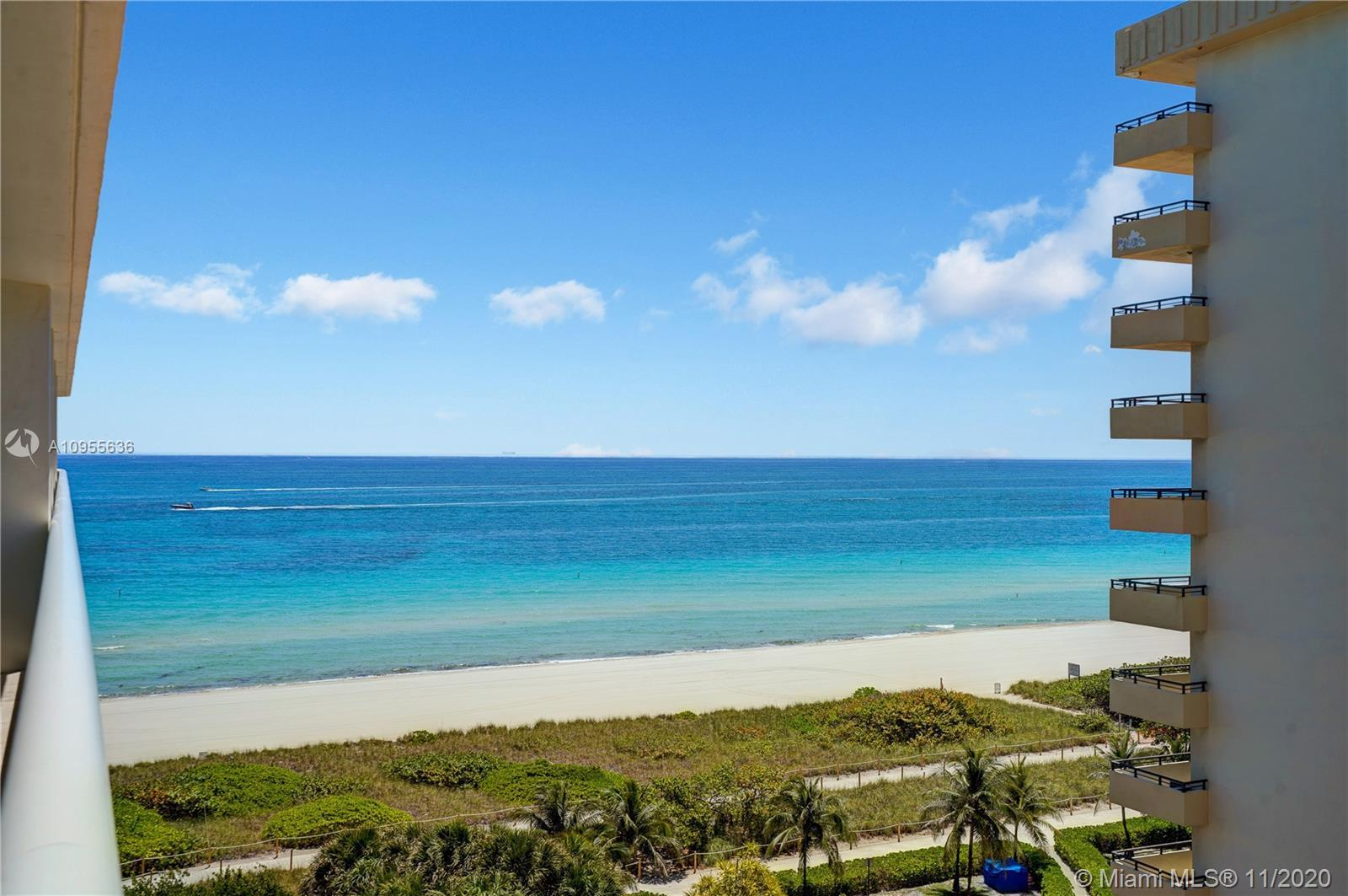 Beautiful furnished 3 bedrooms/3 baths apartment with 1750 interior sq ft located in the oceanfront