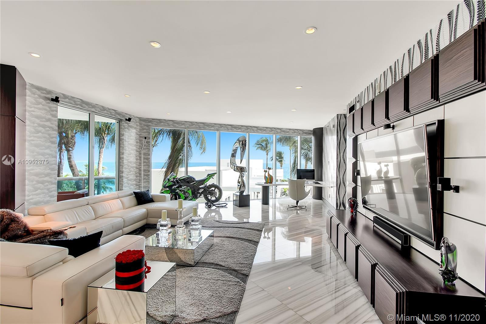Wow! The Crown Jewel of Luxurious Trump Hollywood! Beach Lanai w/ Private Deck Overlooking the Beach