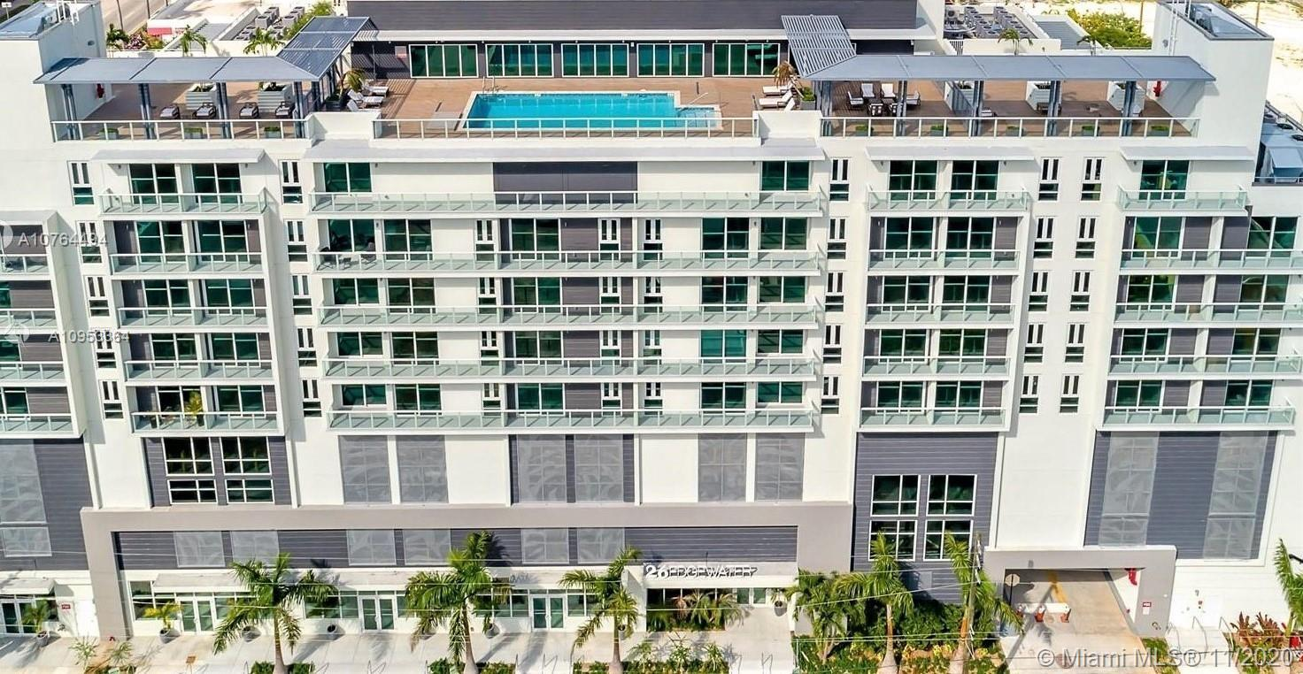 Location! Location! 2 beds/2 baths in modern boutique building 26Edgewater in East Edgewater. Almo
