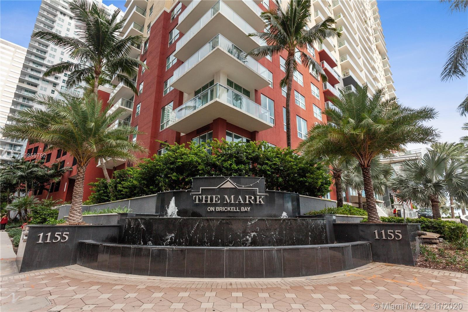 Amazing Biscayne Bay views from this one bedroom residence at The Mark on Brickell Bay Dr. Apartment