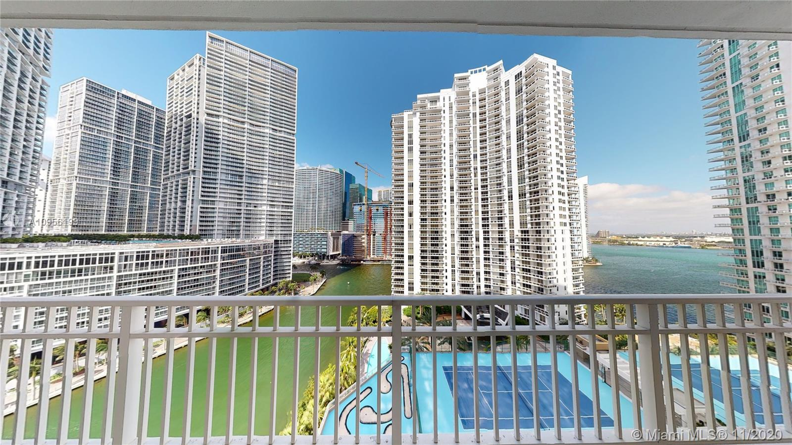 Enjoy spectacular panoramic city and water views, one-of-a-kind three bed three full baths, unit loc
