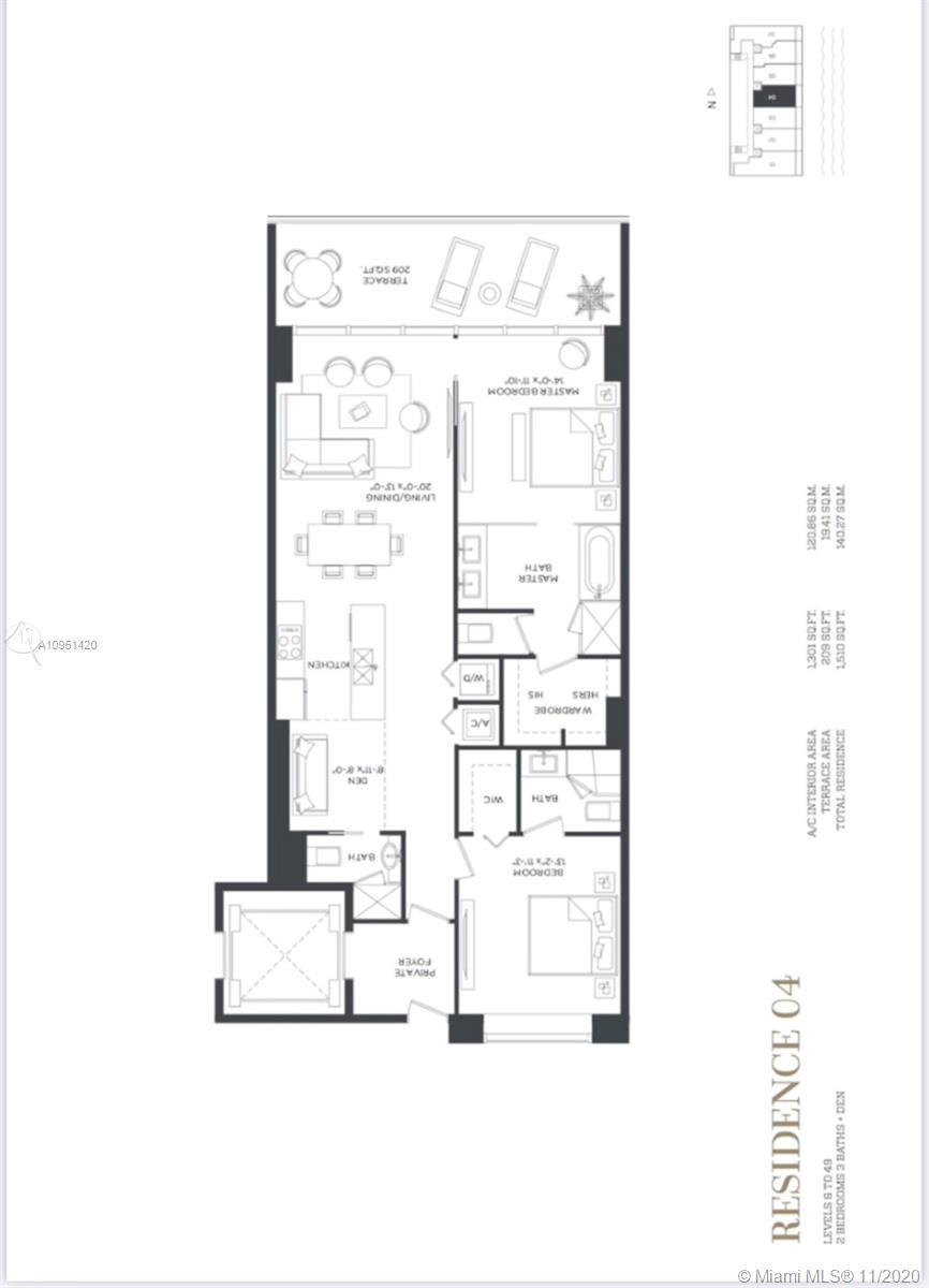 Edgewater finest Tower Gran Paraiso Step inside SKY RESIDENCE UNIT 4904 .   - 2 bedrooms / 3 bath